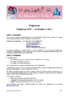 challenge au boulot à vélo 2020 reglement